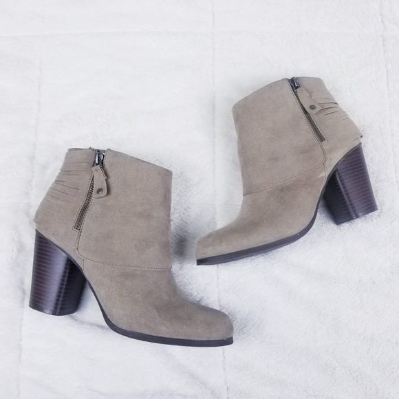 Taupe Destroy Heeled Ankle Booties